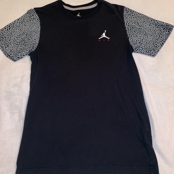 bb96aa7b883 Jordan Shirts | Logo Tee With Elephant Print Sleeves | Poshmark